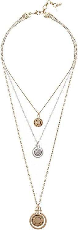 Pave Medallion Layer Necklace