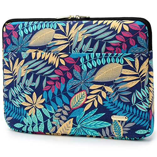 Colorful Leaves 11-13.3' Canvas Fabric Laptops Sleeve Case for New MacBook Pro 2019 13.3-inch & 2020 MacBook Air 13 Inch Retina Display & Up to 13.3 Inch 2018 Laptop Protective Bag