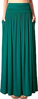 teal green maxi skirt