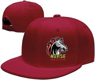 Show Time Horse Keep It Down Sunbonnet Sun Protection Hat Snapback Flat Bill Cap Black
