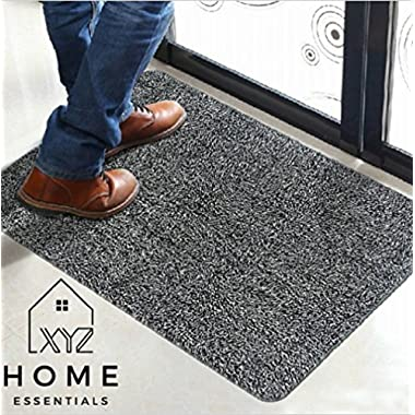 XYZ Home Essentials Door Mat Indoor Small Doormat Absorbent Non Slip Welcome Door Mat Garage Door Mat Bathroom Mat Machine Washable