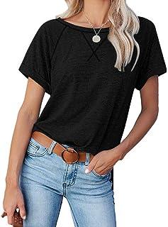 ihot Women Tee Maglietta Donna t-Shirt Donna Manica Corta Basic