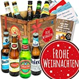Frohe Weihnachten/Bier - Geschenkset mit Bieren der Welt
