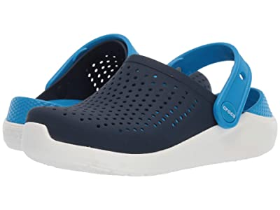 Crocs Kids LiteRide Clog (Little Kid/Big Kid) (Navy/White) Kid