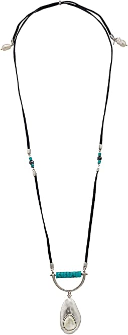 Turquoise Pearl Pendant Necklace