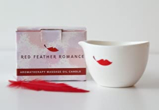 Natural Jasmine Sensual Aromatherapy Massage Oil Candle Made with Soy Wax and Essential Oils
