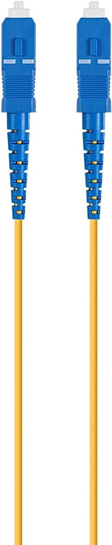 Monoprice Fiber Optic Cable 20M Single Mode PVC Simplex G657A1 2mm - SC//UPC-SC//UPC Meter