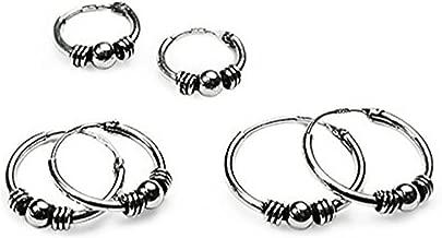 men's bali hoop earrings