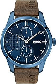 Hugo Boss Men's Blue Dial Brown Leather Watch - 1530083