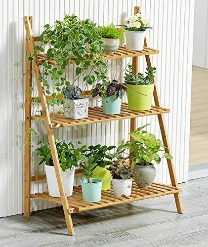 Racks de fleurs en bois solide Creative Platform Décoration de bureau Flower Stand Décoration Racks Plant étagères en bois massif fleur Racks