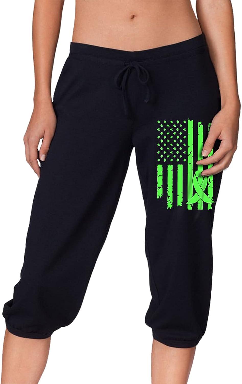 Gastroparesis Cancer Awareness [Alternative dealer] USA Flag Capris Fit Pants Women's Super special price