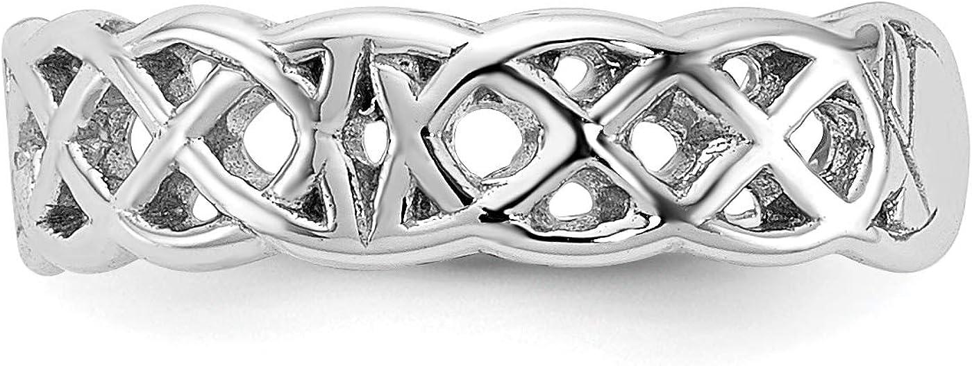 14k White Gold Triquetra Symbol Celtic Knot Pattern Toe Ring