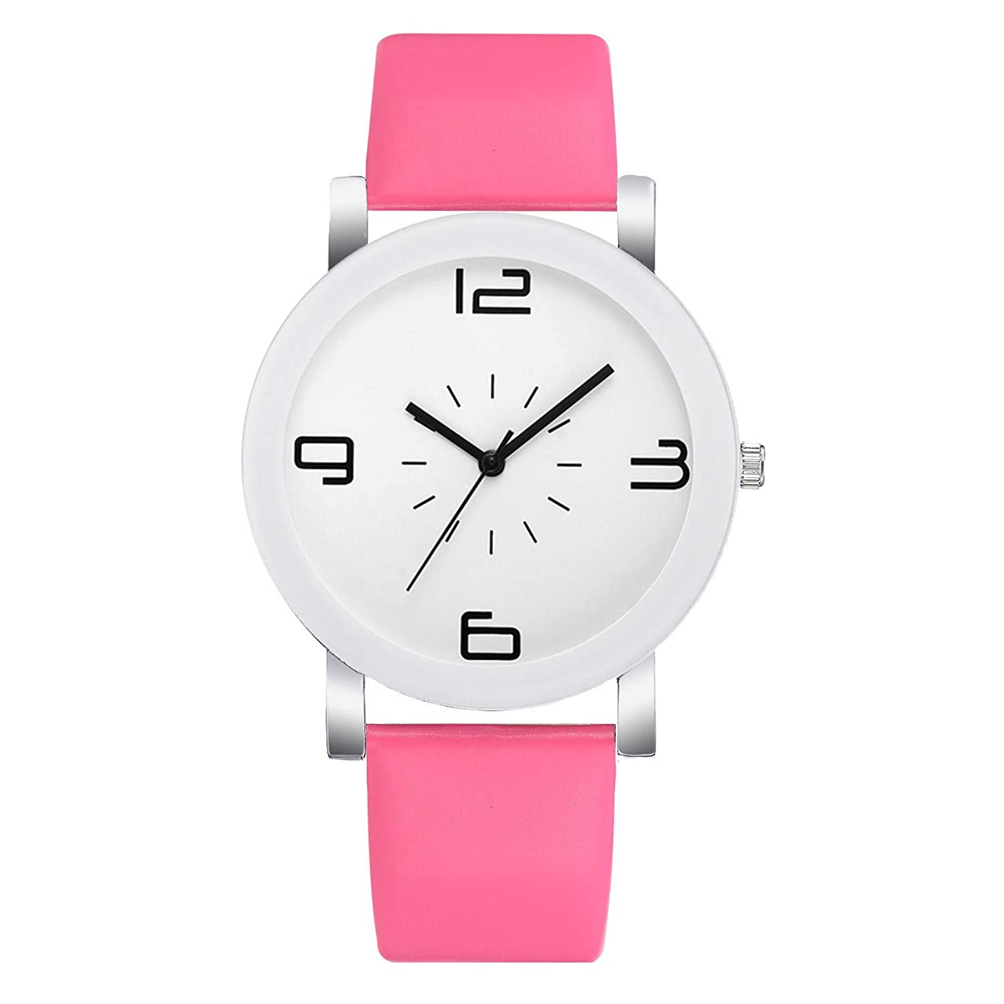 LUCAMORE Women Simple Watches Casual Quartz Leather Band Analog Wrist Watch Female Watch Gift
