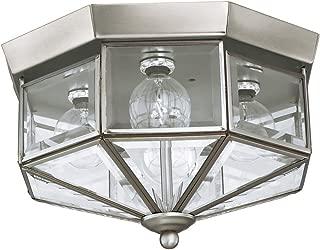 Sea Gull Lighting 7662-962 Grandover Four-Light Flush Mount Ceiling Light with Clear Beveled Glass Panels, Brushed Nickel Finish