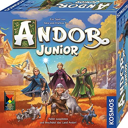 Kosmos 698959 Andor Junior, Haltet zusammen und beschützt das Land Andor, kooperatives Kinderspiel ab 7 Jahren für die ganze Familie, Fantasy-Abenteuer