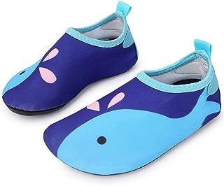 L-RUN Unisex Quick-Dry Water Sports Aqua Swim Barefoot Shoes for Little Kids Navy 2.5-3.5=EU 34-35