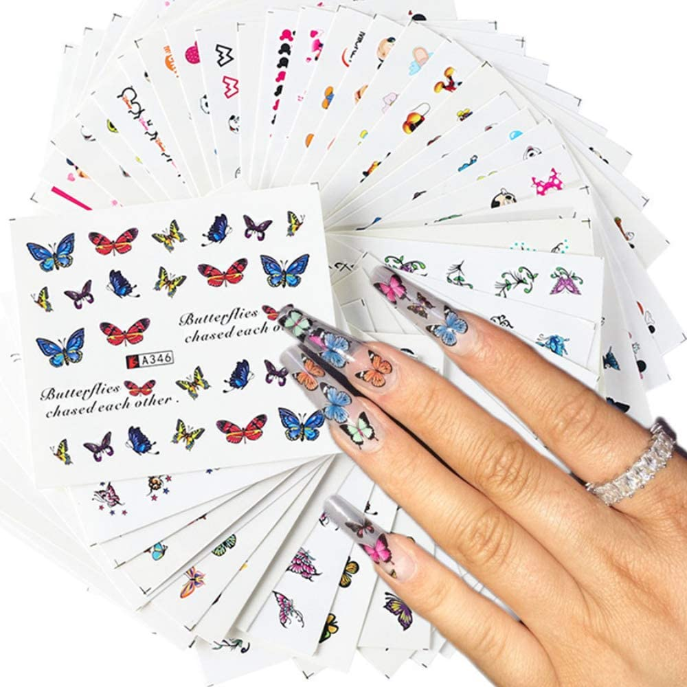 KARVIER 48 Kansas City Mall Sheets Butterfly Nail Colorful Stickers Butterfli Art Finally resale start
