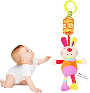 Baby Toys for 0 3 6 to 12 Months Newborn Hanging Soft Plush Spiral Activity Squeaky Animal