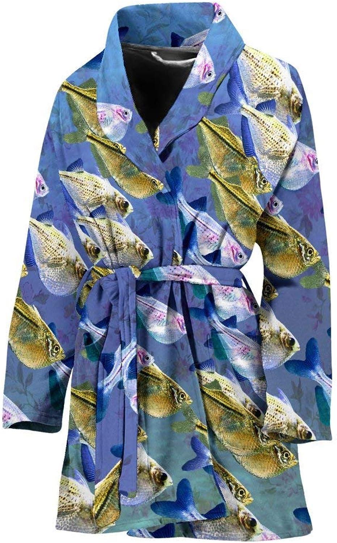 Deruj Common HatchtFish Print Women's Bath Robe