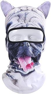 3D Animal Face Mask - Neck Gaiter Warmer Ski Mask for Christmas Music Festival