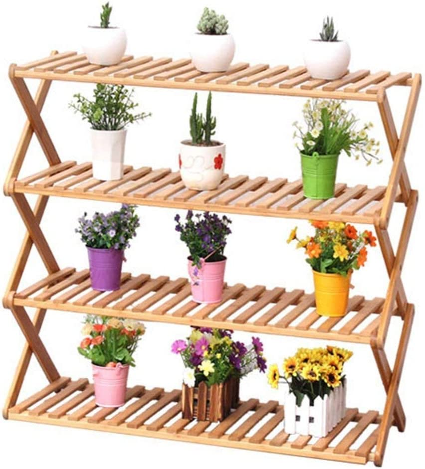 HONYGE At the price LXGANG Max 56% OFF Shoe Racks Flower Wooden Rack for Stand Door