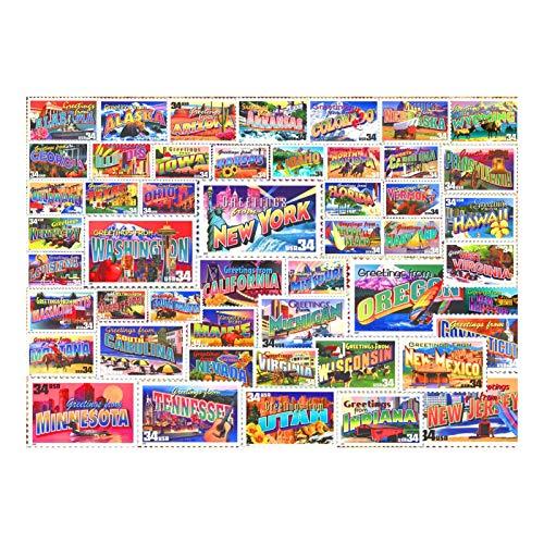Rompecabezas De Madera Jisaw, 1000 Piezas De Rompecabezas De Desafío De Moda Innovador para Adultos, Los Juegos De Rompecabezas De Sellos para Adultos, Regalo para Niños Adultos, 4 Tamaños