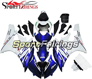Sportbikefairings Injection Plastic ABS Fairings For Yamaha YZF R6 2006 2007 Year 06 07 Motorcycle Body Kits Blue White Cowlings