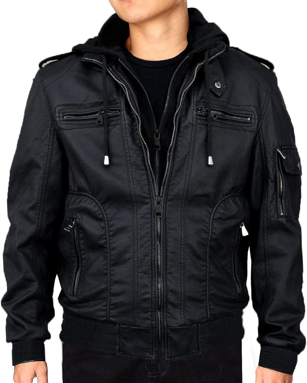 本物 RNZ PREMIUM お見舞い Designer Jacket Leather Faux