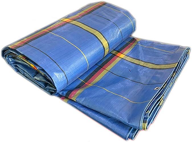PIAOLING Bache imperméable Bache imperméable en Plastique légère, bache imperméable épaisse de Parasol de ménage de Prougeection Solaire, Bleu, 2  2 mètres Durable (Taille   4  5M)