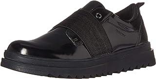 حذاء جيوكس Gilly Jaw Girl 4 عصري بدون رباط أكسفورد المدرسي، أسود، 31 مقاس متوسط للأطفال الصغار (13 أمريكي)