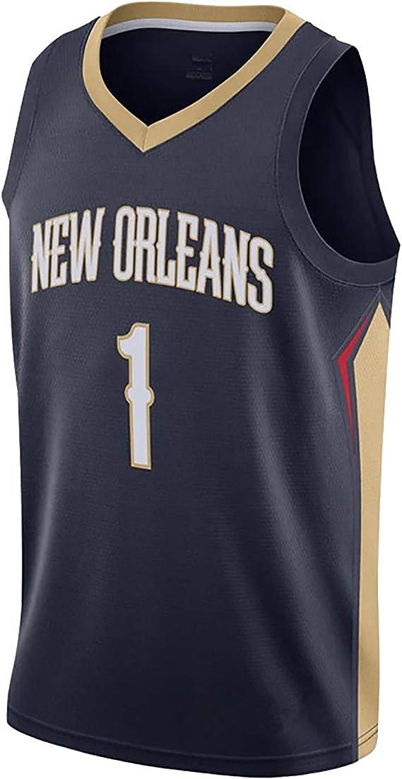 Zion Williamson 1 New Orleans Pelicans Basketballtrikot schnelltrocknendes /ärmelloses Sportswear-T-Shirt