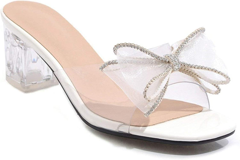 New face 2019 Wholesale Big Size 48 Women Sandals PVC Crystal high Heels shoes Bowknot Transparent Fashion Party shoes Woman