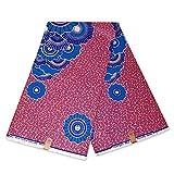 Mitex Holland Afrikanischer Stoff, pink-blaue Muschelflor,