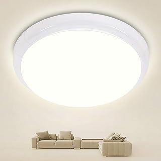 Oraymin - Lámpara LED de techo para baño, 15 W, redonda, 1500 lm, IP44, ideal para dormitorio, salón, baño, cocina, balcón, pasillo, blanco neutro 4000 K, diámetro 25 cm