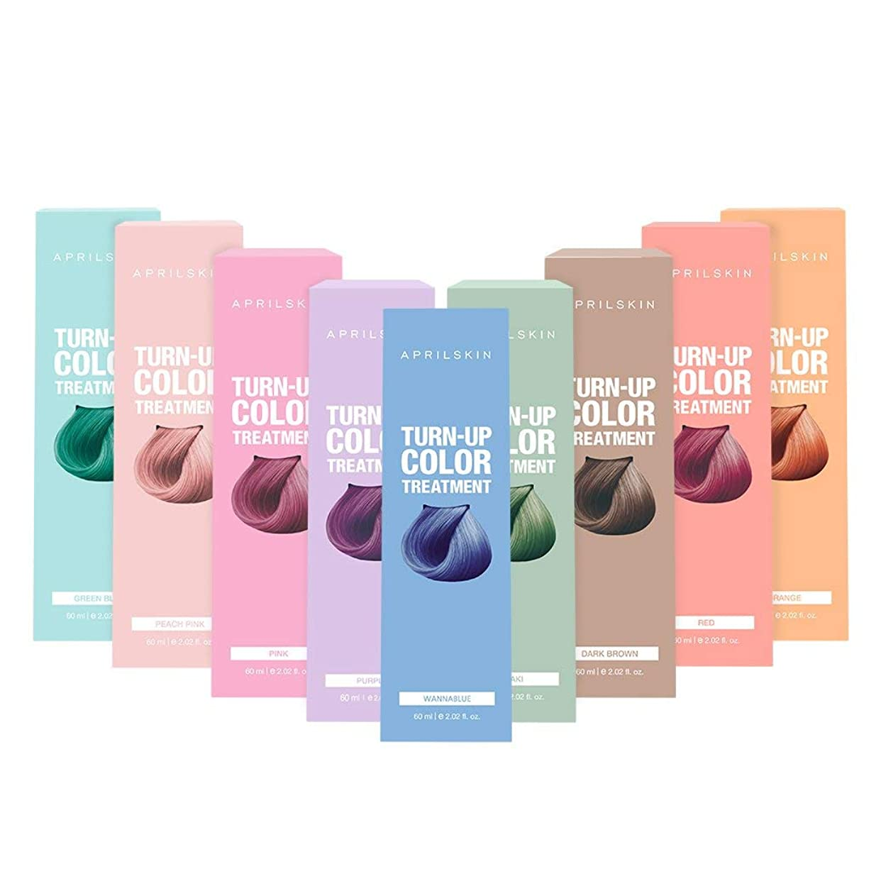 銀河調整する主人April Skin(エイプリルスキン) ターンアップカラー トリートメント Ash KHAKI(アシュカーキ) Set(Green Blue + Orange + Peach Pink)/Turn up Color Treatment/K-Beauty