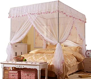 Jqwupup Mosquito Net For Bed - 4 Corner Canopy For Beds