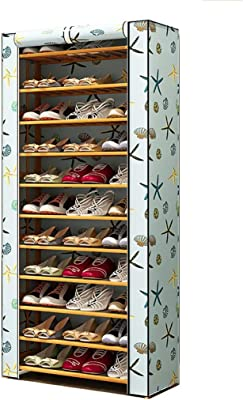 Zapateros y hormas para zapatos Estante De Zapato De La Cubierta del Paño De Polvo, Gabinete De Zapato De Bambú De La Caja De Almacenamiento del Cubo De La Multi-función (Tamaño : 11 Layer)