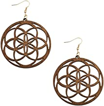 Best mandala earrings wood Reviews