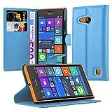 Cadorabo Book Case works with Nokia Lumia 730 in SKY BLUE -