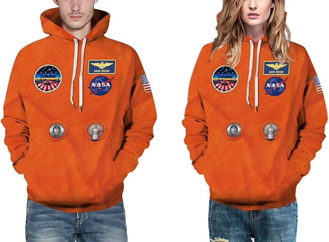 Chaos World Mens Hoodie NASA Realistic 3D Printed Sweatshit Hooded Cosplay Costume Unisex