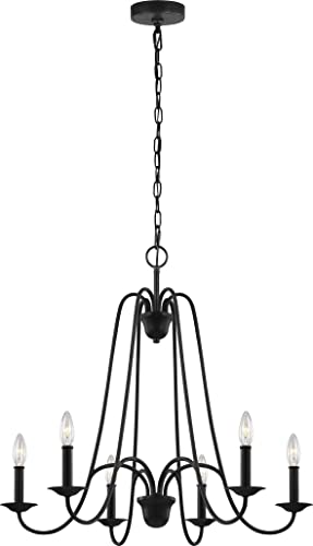 new arrival Sea outlet sale Gull Lighting F3205/6AF Boughton Six Light Chandelier, outlet online sale Antique Forged Iron online