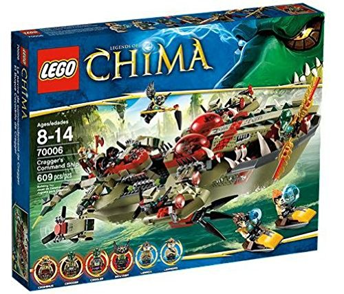 LEGO Legends of Chima 70006 - Craggers Croc-Boot Zentrale