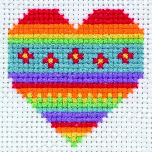 Anchor 3690000@11 Kit Point de Croix compté-Heart, Non