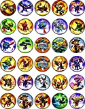 30 x Edible Cupcake Toppers Themed of Skylanders Collection of Edible Cake Decorations | Uncut Edible on Wafer Sheet