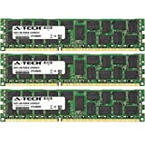 12GB KIT (3 x 4 GB) for Dell Precision Workstation Series T3500 R5500 T5500 T7500. DIMM DDR3 ECC Registered PC3-10600R 1333MHz Dual Rank Server Ram Memory. Genuine A-Tech Brand.