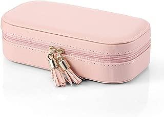 Vlando Small Tassels Travel Accessories Jewelry Box/Bag, Gift Box Packing (Pink)