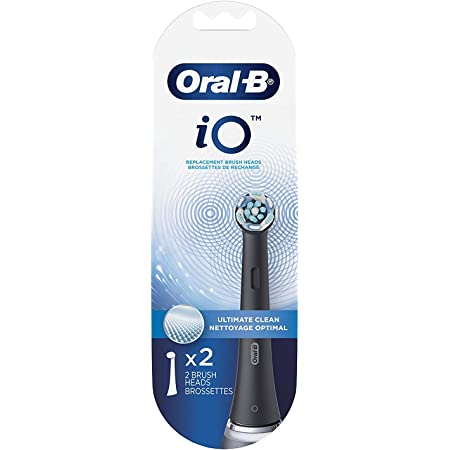 Oral-B iO Ultimate Clean Replacement Brush Heads, Black, 2 Count