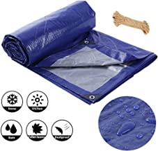 LSXIAO Tarpaulin Rainproof/UV Protection Swimming Pool Cover Lightweight Metal Eyelet With Free Rope Outdoor Camping Tent, 20 Sizes (Color : Blue, Size : 2x3m)