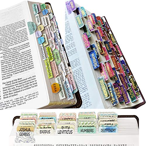 Mr. Pen- Bible Tabs, 3 Different Design, 222 Tabs, Bible Journaling Supplies, Bible Tabs Old and New Testament, Bible Tabs for Women, Bible Book Tabs, Bible Study Supplies, Tabs for Bible
