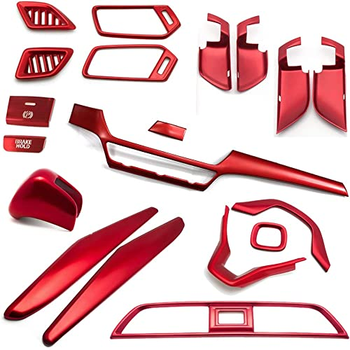 2021 Vehicle Interior Red Frame Set, high quality 18 PCS Frames for Center Console, Door Handle Bowl, Dashboard, Steering Wheel, Shift Knob Cover & Panel, 2021 Handbrake, Replacement for Honda 10th Accord 2018-2020 online sale